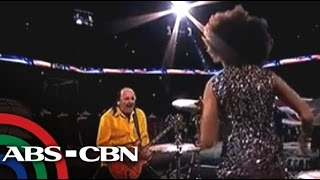 Carlos Santana, wife perform in NBA Finals