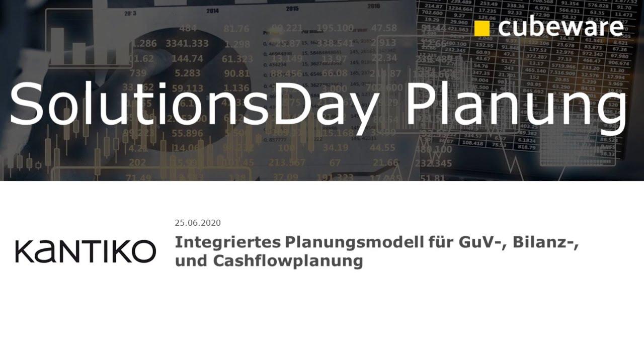 Integriertes Planungsmodell für GuV-, Bilanz-, und Cashflowplanung