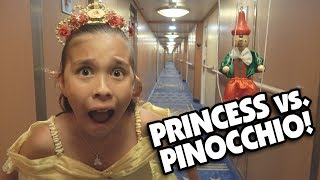 PRINCESS VS. PINOCCHIO!!! A Funny Short Film Puppet Show by JillianTubeHD