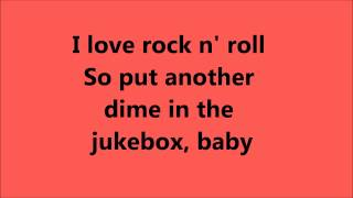 Joan Jett I Love Rock N Roll lyrics