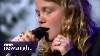 Kate Tempest performs Tunnel Vision - BBC Newsnight