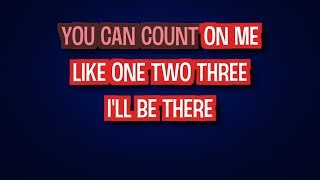 Karaoke Count On Me by Bruno Mars
