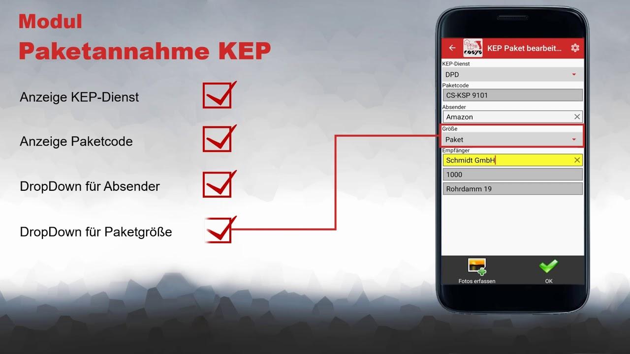 Paketannahme von KEP- und Paketdiensten | COSYS Hauspostverteilung App
