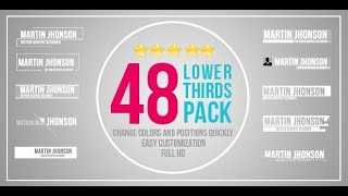 48 Lower Thirds Pack (Best After Effects Projects)