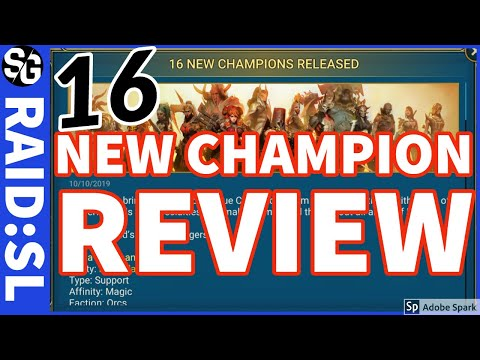 RAID SHADOW LEGENDS | 16 NEW CHAMP REVIEW
