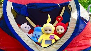 Tent CAMPING with TELETUBBIES and IN THE NIGHT GARDEN Lullaby Toys!