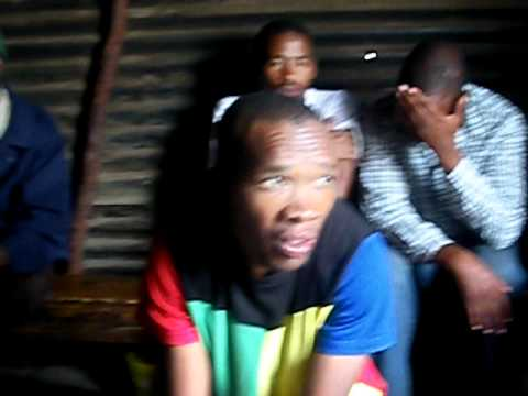 In a Shebeen Trying Gumbote Beer – Soweto – South Africa – January 2011