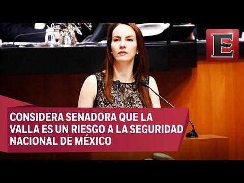 GABRIELA CUEVAS PIDE VETAR A EMPRESAS QUE CONSTRUYAN EL MURO DE TRUMP