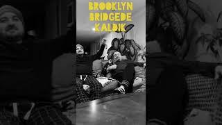 Brooklyn Bridge'de kaldik