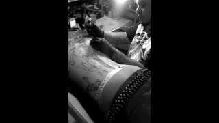 Mgk gets tattoo filmed by Shadowink (tat by ceven)