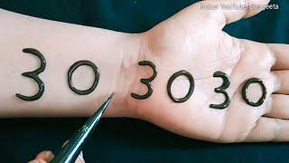 303030 Easy Arabic Mehndi Design For Hands || Henna Design || New Mehndi Design || mehndi