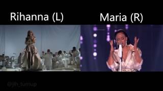 Rihanna Vs. Maria Tyszkiewicz - Diamonds - Live Comparison