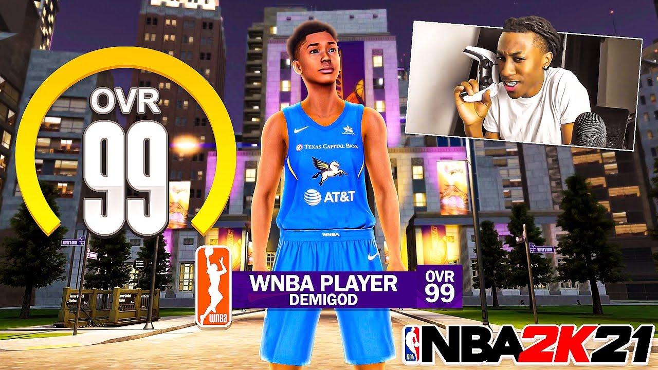 Ya Boi Tonio - I Snuck A FEMALE DEMIGOD WNBA Player Online.. lol kinda!😅 NBA 2k21 Next Gen!