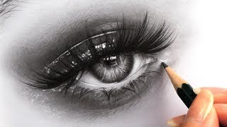How to Draw Hyper Realistic Eyes - Tips for Drawing Eyelashes, Iris and Skin