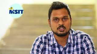 MSIT Programe - Student Testimonial