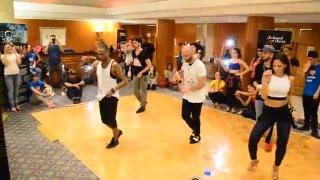 Ataca, Alemana, Daniel, Desiree & Juan Matos dance Salsa @ Dubai Latin Fest 2016