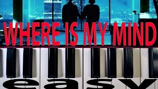 Where Is My Mind EASY Piano Tutorial - The Pixies
