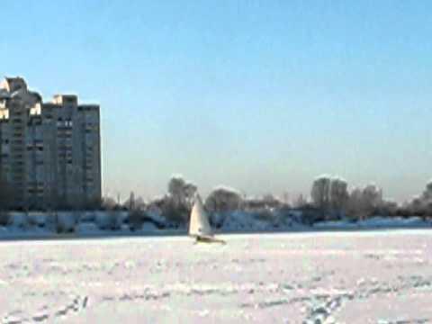 Собаче гирло, ice yachting (Feb. 11, 2012)