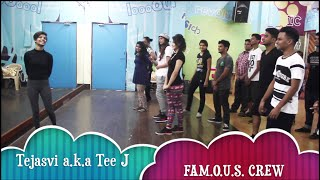 The Paradise Dance Workshops (13.13 Crew) | Tejasvi aka Tee J  (FAM.O.U.S. Crew)