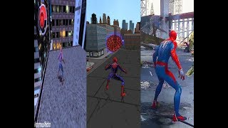 Spiderman 2 - Ultimate Spider-Man - Marvel's Spider-Man PS4 (Web-Swing comparison)