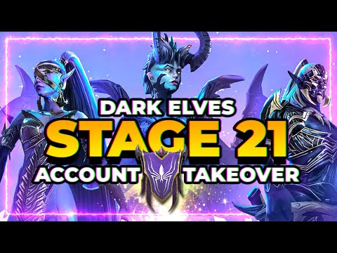 Dark Elves Takeover for Stage 21! FULL Thought Process! RAID Shadow Legends