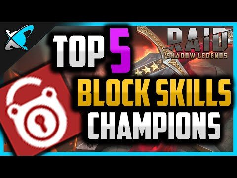Top 5 BLOCK SKILLS Champions | Dominate the Arena ! | RAID: Shadow Legends