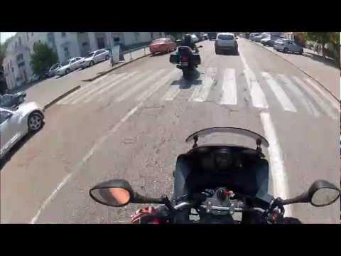 Driving Yamaha TDM 900 in Sevastopol (Crimea), Ukraine
