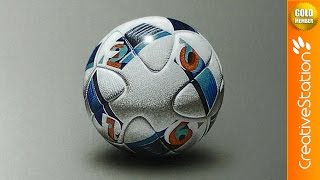 Uefa Euro 2016 Match Ball - 3D Drawing | CreativeStation GM