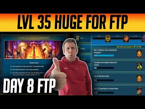 FTP Day 8 LEVEL 35 & CvC is MASSIVE for FREE STUFF! | Raid: Shadow Legends