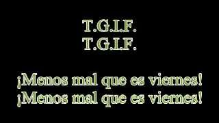 Glee -  Last Friday night (lyrics & traduccion en español)