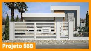 Modelo de casa térrea moderna - 86B