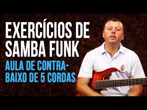 Exercícios de Samba Funk (aula de contra-baixo de 5 cordas)