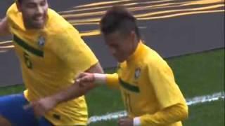os gols de brasil 2 x 0 escócia pelo amistoso 2011 - (27/03/2011).