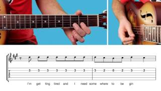 ► Somewhere Only We Know - Keane / Lilly Allen (Guitar Lesson) EASY MELODY - Free Tab