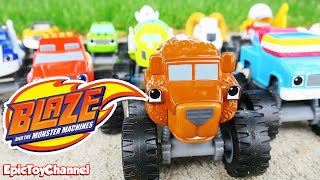 BLAZE AND THE MONSTER MACHINES Race + Grizzly Bear Truck a Blaze Parody Video by Epic Toy Channel