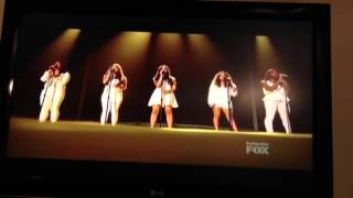 X-factor: fifth harmony singing hero