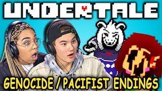 PACIFIST & GENOCIDE ENDINGS!   UNDERTALE - Part 9 (React: Let's Plays)