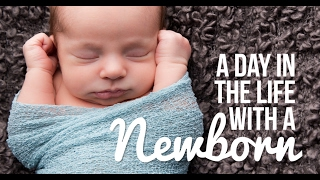 24 HOURS WITH A NEWBORN BABY! | Ellie and Jared Routine width=