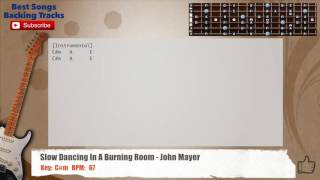 Slow Dacing In A Burning Room - John Mayer Guitar Backing Track with chords and lyrics