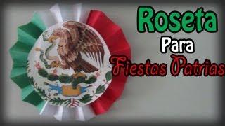 Decoración para Fiestas Patrias! (Roseta de 3 colores) // Floritere
