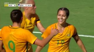 Australia vs. Brazil: Katrina Gorry Goal - Aug. 3, 2017