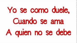 Dulce Maria - Se Como Duele (letra)