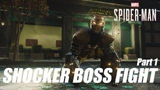 Spider-Man (PS4) - Shocker Boss Fight Gameplay (Part 1)