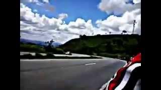 Acidente moto Repsol na curva da galinha .