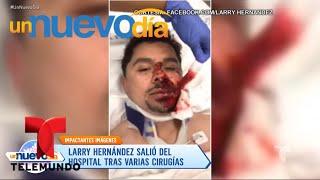 ¡Larry Hernández tuvo un accidente y está en el hospital! | Un Nuevo Día | Telemundo