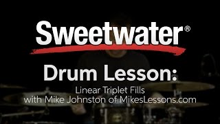 Drum Lesson: Linear Triplet Fills with Mike Johnston of MikesLessons.com