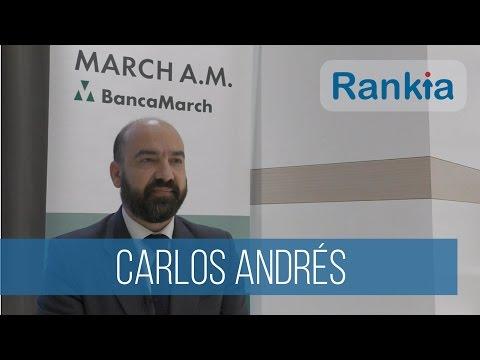Carlos Andrés, Director de Inversiones de March Asset Management, nos habla de las estrategias de inversión que podemos poner en práctica contra la inflación en 2017, y nos da su opinión sobre la renta variable, sobre las compañías en las que ven valor, y March Vini Catena.