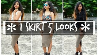 1 SKIRT 5 STYLES | How I Style a Midi Side Slit Skirt | Stacey Castanha