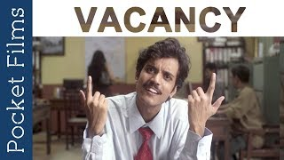 Hindi Comedy Short Film - Vacancy   This interview might become your reality   Funny Interview