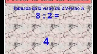 tabuada da divisão do número 2 (dois) - ordem crescente versão A